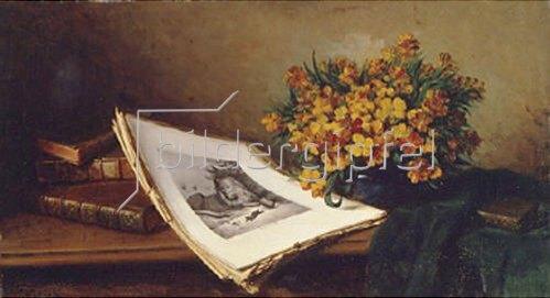 Ferdinand d.Ä Wagner: Stillleben mit Lithographie.