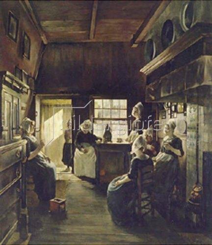 Paul Weimar: Unterhaltung in holländischen Interieur. 1888.