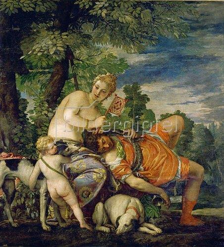 Paolo (Paolo Caliari) Veronese: Venus und Adonis.