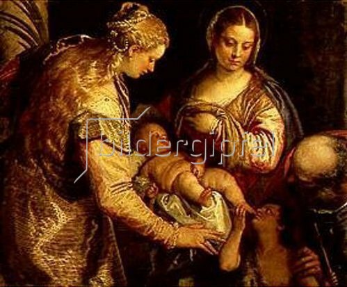 Paolo (Paolo Caliari) Veronese: Die hl.Familie mit der hl.Anna und dem Johannesknaben.