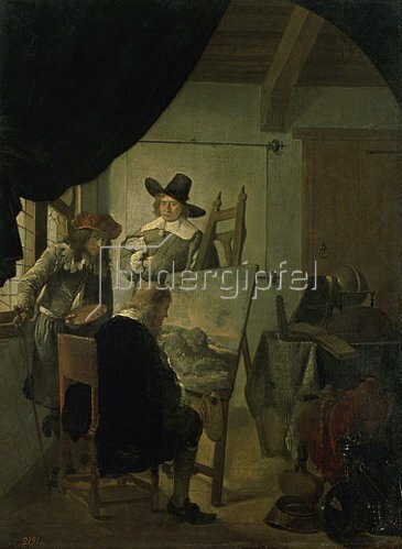 Job Adriaensz Berckheyde: Besuch im Atelier des Künstlers.  1659