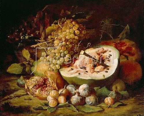 Abraham Brueghel: Früchtestillleben. 1670er Jahre