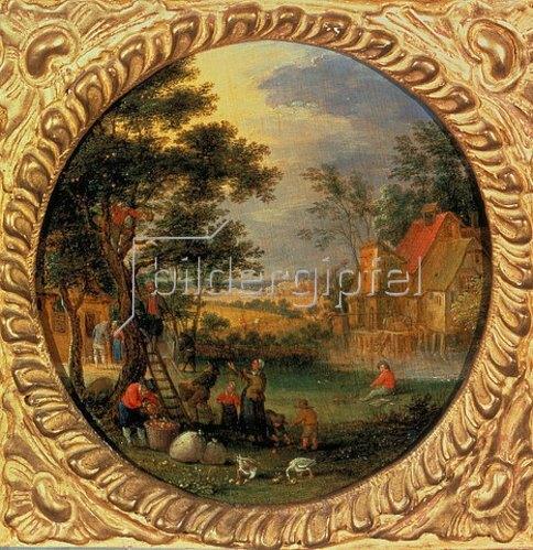 Jan Brueghel d.Ä.: Apfelernte. 1630er Jahre