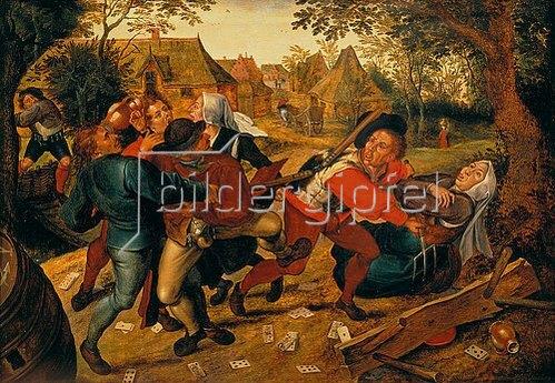 Pieter Brueghel d.J.: Raufende Kartenspieler. 1620