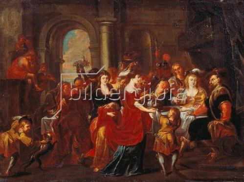 Abraham van Diepenbeeck: Das Festmahl des Herodes.
