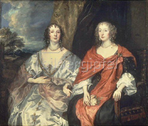 Anthonis van Dyck: Die Countess of Morton A. Dalkeith und Lady A. Kirke. 1630er Jahre