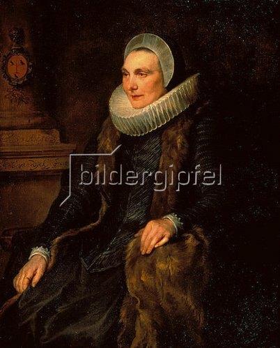 Anthonis van Dyck: Bildnis der Maria Bosschaert. 1629