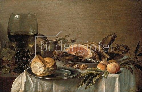 Pieter Claesz.: Frühstücks-Stillleben mit Schinken. 1616