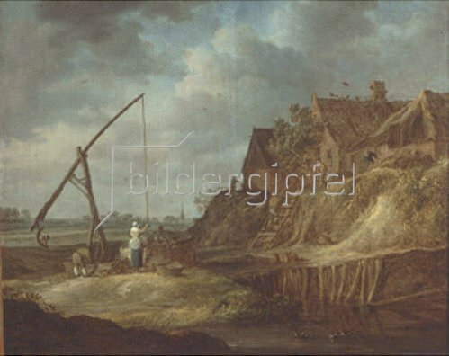 Jan van Goyen: Landschaft mit Ziehbrunnen. 1642