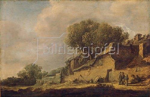 Jan van Goyen: Landschaft mit Bauernhaus. 1631