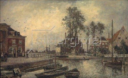 Johan Barthold Jongkind: An einem Kanal. 1869