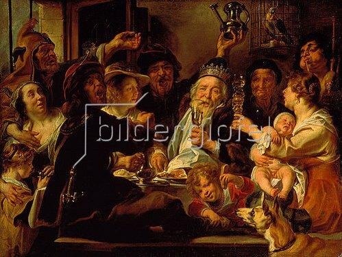 Jacob Jordaens: Der Bohnenkönig. 1638