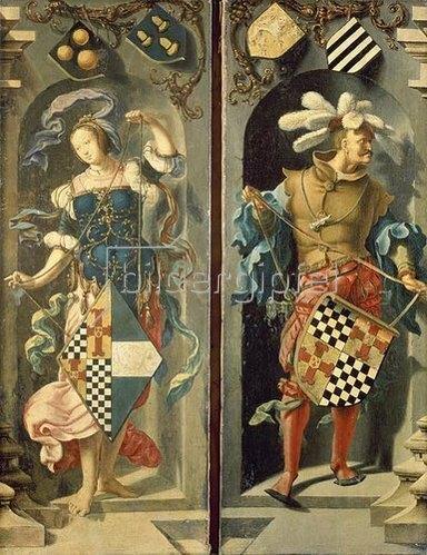 """Lucas van Leyden: Seitentafeln des Triptychons """"Die Heilung des Blinden in Jericho"""". 1531"""