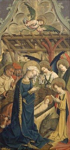 Meister von Schloß Lichtenstein: Die Geburt Christi. Um 1440