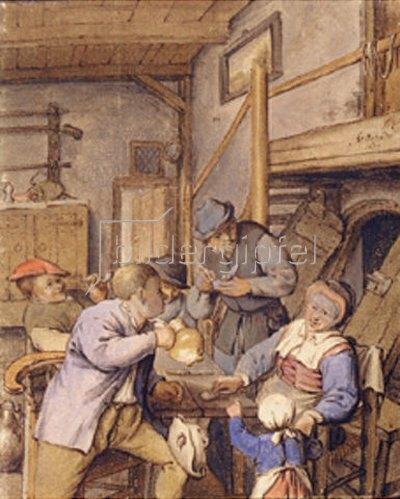 Adriaen van Ostade: In einer Taverne. 1677