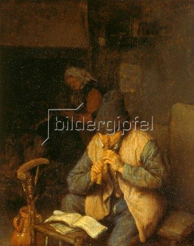 Adriaen van Ostade: Flötenspieler. Um 1660
