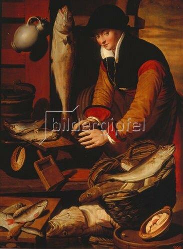 Pieter Pietersz: Die Fischersfrau. Um 1580