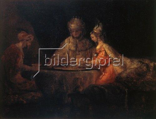 Rembrandt van Rijn: Ahasver, Haman und Esther. 1660