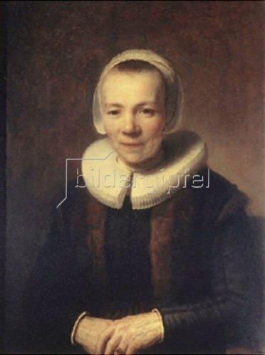 Rembrandt van Rijn: Bildnis von Baartje Martens Doomer. 1640