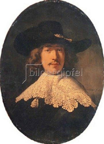 Rembrandt van Rijn: Bildnis eines jungen Mannes mit Spitzenkragen. 1634
