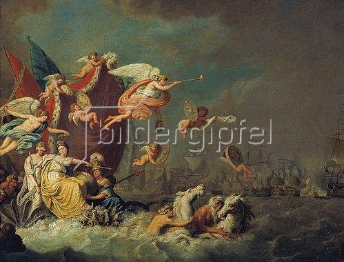 Theodorus de Roode: Allegorie auf den Sieg von Chesmen 1770. 1771