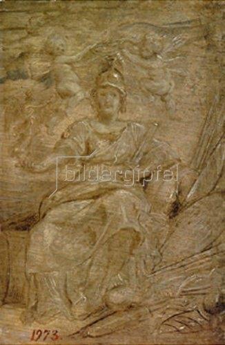 Peter Paul Rubens: Maria de Medici als Athene, die Göttin der Weisheit und des Krieges. 1622/1625