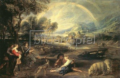 Peter Paul Rubens: Landschaft mit Regenbogen. 1632/1635