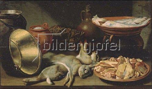 Floris Gerritsz. van Schooten: Stillleben mit totem Hasen