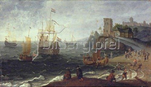 Isaac Willaerts: Seehafen mit Fischmarkt.