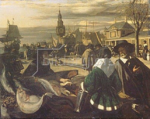 Emanuel de Witte: Markt am Hafen. 1660-er Jahre.