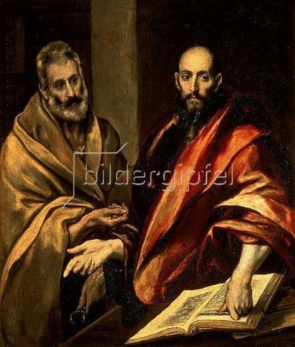 Greco El (Dominikos Theotokopoulos): Die Apostel Petrus und Paulus. 1587/92.