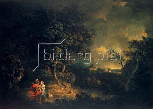 Thomas Jones: Landschaft mit Dido und Aeneas. 1769.