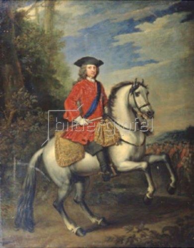 Sir Godfrey Kneller: Bildnis von König Georg I. zu Pferde. 1717.