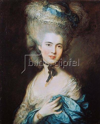 Thomas Gainsborough: Dame in blau (Die Herzogin von Beaufort). Um 1780