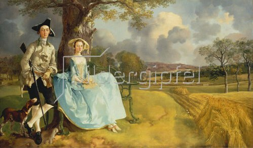 Thomas Gainsborough: Das Ehepaar Andrews. Um 1750
