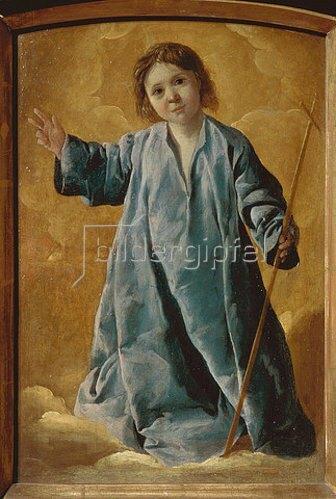 Francisco Zurbaran y Salazar: Der Jesusknabe mit dem Kreuz. 1635/40