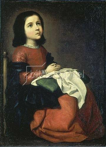 Francisco Zurbaran y Salazar: Die Hl. Maria als Kind. Um 1660.
