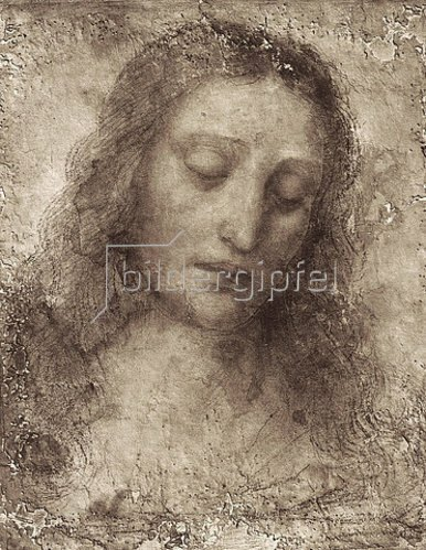 Leonardo da Vinci: Das Antlitz Christi.