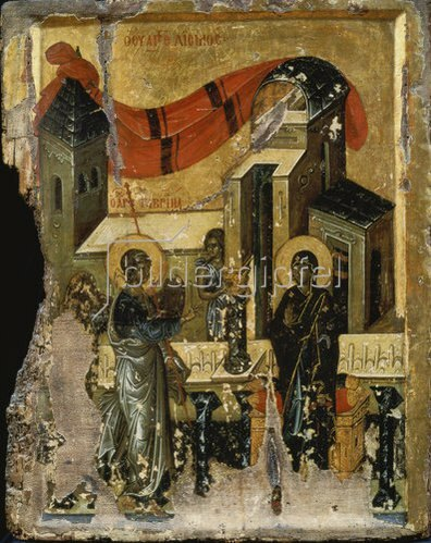 byzantinisch Ikone: Die Verkündigung Mariae.