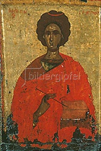 byzantinisch Ikone: Der Hl. Panteleimon, Märtyrer und Heiler (2. Hälfte 15. Jahrhundert).