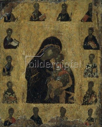 byzantinisch Ikone: Die Muttergottes der Zärtlichkeit. (2. Hälfte 14. Jahrhundert).