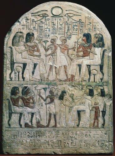 Ägyptisch: Relief mit Szenen aus dem antiken Ägypten (156 v. Chr.).