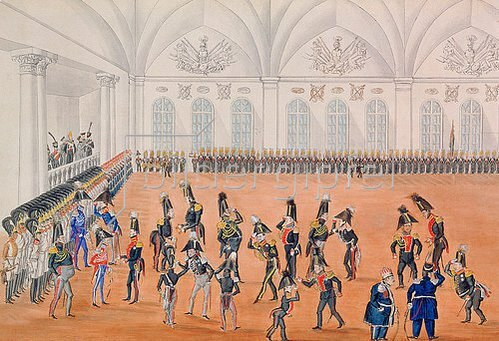 Anonym: Die Garde paradiert, 1820-er Jahre.