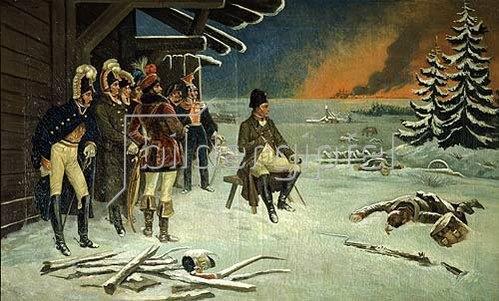 Stephan Bakalovitsch: Napoleon Bonaparte in Maly-Jaroslavets.