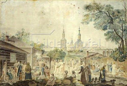 Gérard de la Barthe: Eine Badeanstalt in Moskau.