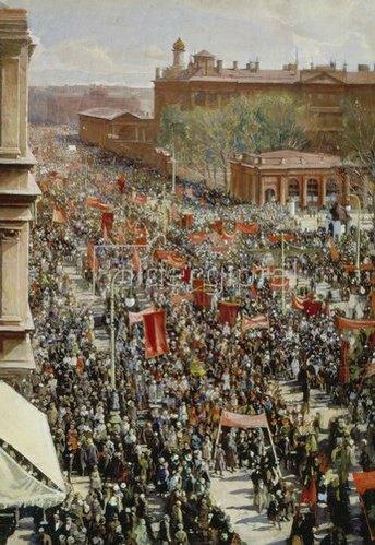 Isaak Brodskij: Eine Parade. 1930.