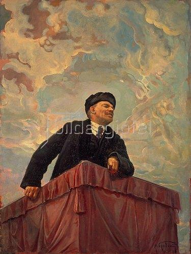 Isaak Brodskij: Lenin auf dem Rednerpult. 1927.