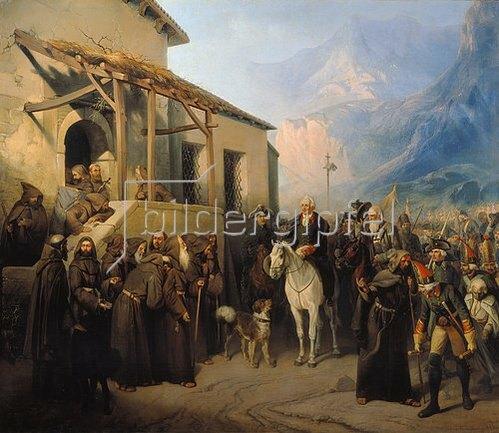 Adolf Charlemagne: Feldmarschall A. Suvorov auf dem Sankt-Gotthard-Pass am 13.9.1799. 1855.