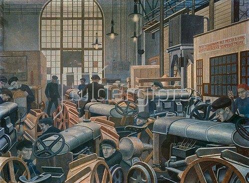 Pawel Filonow: In der Traktorenfabrik. 1931