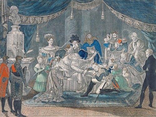 Pjotr Fjodorov: Der Tod der Zarin Maria Fjodorowna am 25. Oktober 1828. 1829.